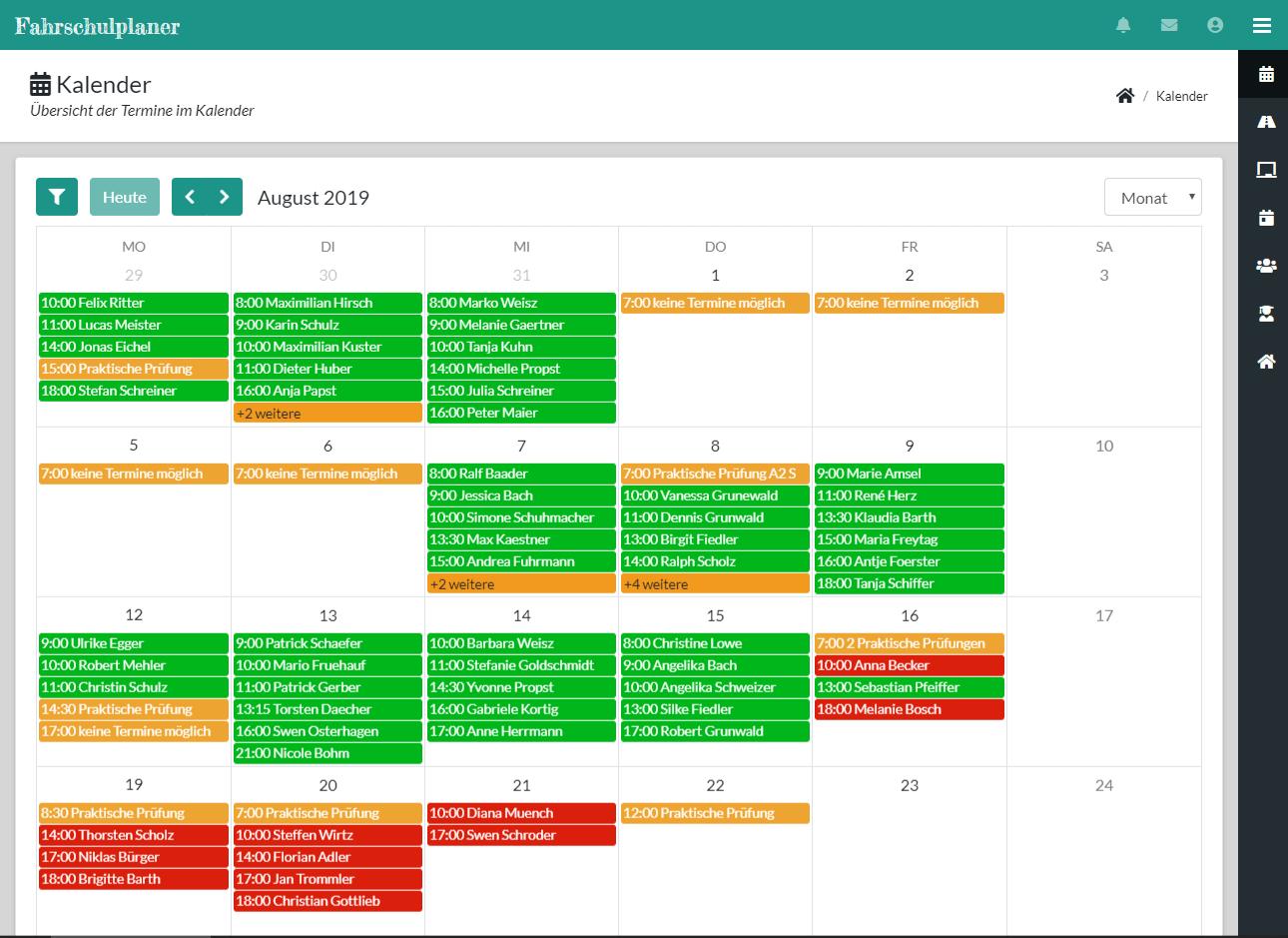 Kalender Wochenansicht